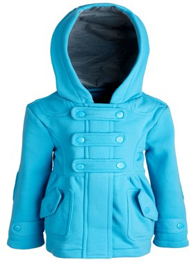 Urban Republic Girls and Baby Hooded Dressy Jersey Knit Fleece Hoodie Jacket