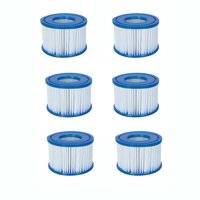 Bestway Spa Filter Pump Replacement Cartridge Type VI SaluSpa Hot Tub (6 Pack)