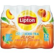 (2 Pack) Lipton Diet Peach Iced Tea, 16.9 Fl Oz, 12 Count