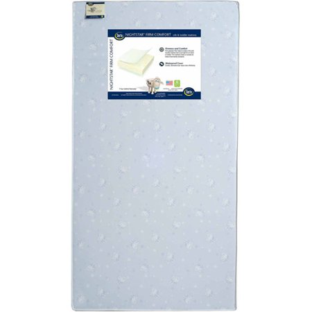 Serta Nightstar Firm Comfort Crib and Toddler Mattress, Thermo-Bonded