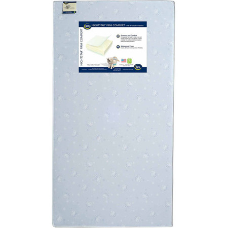 Serta Nightstar Firm Comfort Crib and Toddler Mattress, Thermo-Bonded (Serta Perfect Day Iseries Applause Firm Mattress)