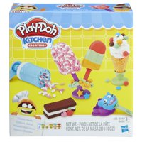 Play-Doh Kitchen Creations Frozen Treats Food Set with 7 Cans of Dough