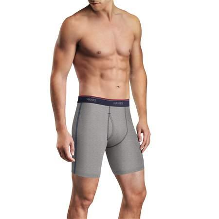 Comfort Waistband Boxer Brief (Men's FreshIQ Comfort Flex Waistband Long Leg Boxer Brief 5-Pack )