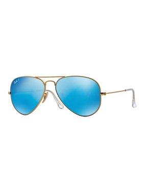 Ray-Ban 58MM Large Polar Flash Aviator Sunglasses