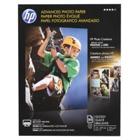 HP, HEWQ7853A, Advanced Glossy Photo Paper, 50 / Pack, White