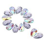 0130d11ea339fe Yosoo 200PCS DIY Teardrop Crystal AB Resin Rhinestone Pointback Glass  Faceted Jewelry Making Craft