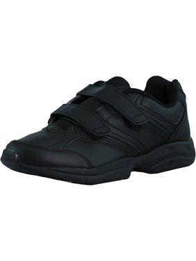 Avia Women's Union Slip Resistant Black / Chrome Silver Lemon Yellow Ankle-High Leather Walking Shoe - 7.5M
