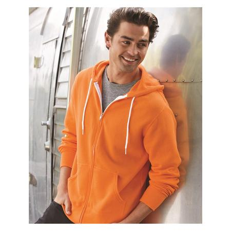 Fleece Unisex Hooded Full-Zip Sweatshirt