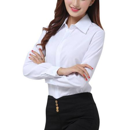 OUMY Women Casual Button Down Office Lady Shirt Blouse