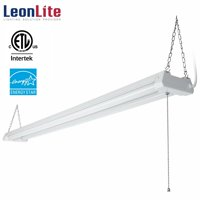 LEONLITE 4ft 40W Linkable LED Utility Shop Light, 4100 Lumens, ETL Listed, Double Integrated LED Ceiling Fixture, 4000K Cool White