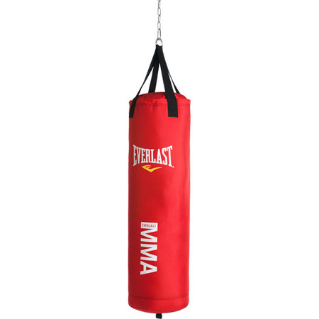 Everlast MMA Polycanvas 70-Pound Heavy Bag, Red