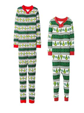 Family Matching Xmas Pajamas Set Women Kid Adult PJs Sleepwear Nightwear Home Wear