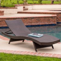 Outdoor Brown Chaise Lounge (single)