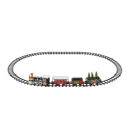 Holiday Time Battery Powered Train Set Christmas Decoration - Holiday Time Battery Powered Train Set Christmas Decoration