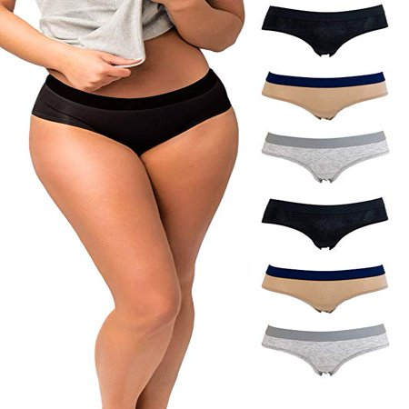 Emprella Panties for Women, 6 Pack Womens Hipster Underwear Soft Cotton Ladies Panty