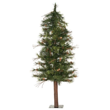 Vickerman Artificial Christmas Tree 7' Mixed Country Alpine Tree 646 Tips