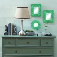 Mainstays Teal Baroque Florence Wall Mirrors, Set of 3
