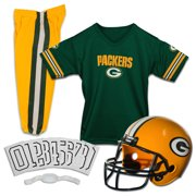 b35bf758b Franklin Sports NFL Green Bay Packers Youth Licensed Deluxe Uniform Set