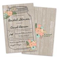 Personalized Mason Jar Bridal Shower Invitations