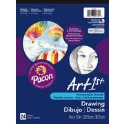 "Art1st Drawing Pad, 9"" x 12"" Heavyweight Art Paper, 24 Sheets"