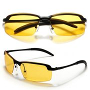 9bcff1f592 Yellow Lens Polarized Night Vision Glasses Outdoor Driving Sunglasses UV  Goggles