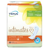 TENA Intimates Ultimate Pant Liner, Heavy 16 Inch Bladder Control Pads, 54305 - Case of 99