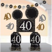 Over The Hill Sparkling Celebration 40th Birthday Room Decorating Kit