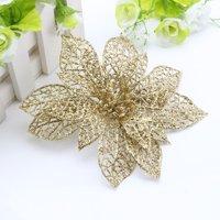 10pcs Christmas Hollow Flower Xmas Tree Ornaments Wedding Party Home Decoration