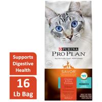 Purina Pro Plan Savor Chicken & Rice Formula Adult Dry Cat Food, 16 lb