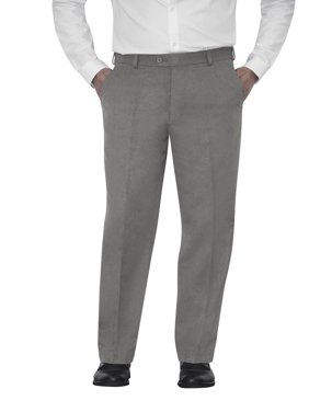 Men's Microfiber Flat Front Dress Pants
