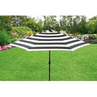 Better Homes and Gardens 9ft. Aluminum Market Umbrella, Cabana Stripe