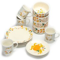 Mainstays 16-Piece Happy Harvest Fall Floral Dinnerware Set