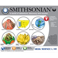 Smithsonian Mega Science Lab 6 Kits in One – Volcanoes, Weather, Crystal Growing, Dinosaurs, Microscopic Science and Space.