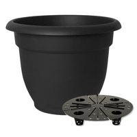 "Bloem Ariana Self Watering Planter 16"" Black"