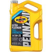 Pennzoil Ultra Platinum 5W-20 SN Full Synthetic Motor Oil, 5-quart
