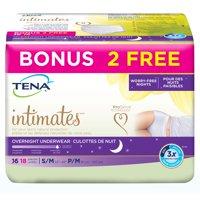 Tena Intimates Incontinence Underwear, Overnight, Small/Medium, 18 Count Bonus Pack