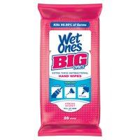 (10 Pack) Wet Ones Big Ones Antibacterial Hand Wipes Travel Pack - 24 Count