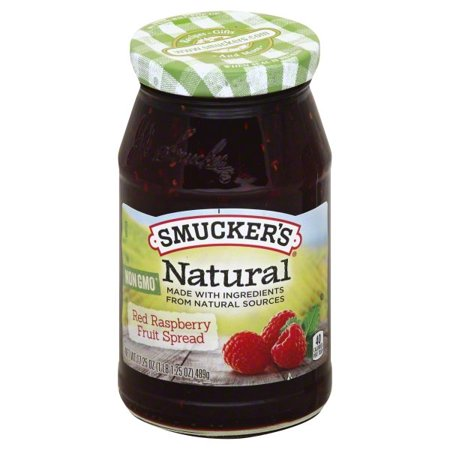 Raspberry Jam Muffins ((2 pack) Smucker's Natural Red Raspberry Fruit Spread,)