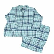 Joe Boxer Womens Flannel Pajamas Blue   Teal Green Sleep Set PJs Size 3X 6caf7bf27