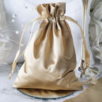 "Efavormart 12PCS Satin Gift Bag Drawstring Pouch for Wedding Party Favor Jewelry Candy Solid Satin Bags - 5""x7"""