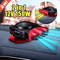 Car Heater Heating Cooling Fan Warm Winter 150W 12V Hot Gift Windscreen Demister Windshield Heat Defroster Cool Summer Universal Vehicle Van SUV Truck