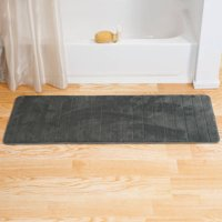 "Somerset Home Memory Foam Striped Extra Long Bath Mat, 24"" x 60"""