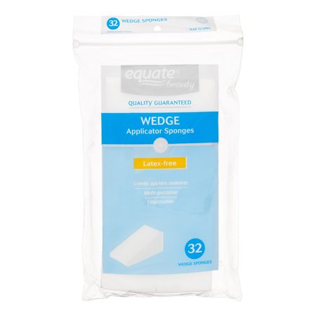 Beauty Wedge - (4 Pack) Equate Beauty Wedge Applicator Sponges, Latex-Free, Disposable, 32 Ct.