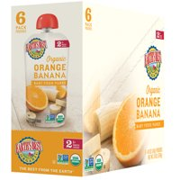 Earth's Best Organic Stage 2, Orange Banana Puree, 4 Ounce Pouch (Pack of 6)