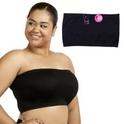 3aeaa3c115fb6 Plus Size Seamless Strapless Bandeau Tube Tops Sports Bra Yoga Stretchy One  Size