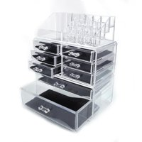 Ktaxon Acrylic Cosmetic Table Organizer Makeup Holder Case Box Jewelry Storage with 8 Drawers