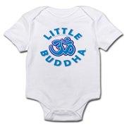 CafePress - Little Buddha Yoga Symbol Baby Rompers Blue - Baby Light Bodysuit