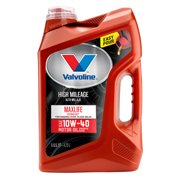 (12 Pack) Valvoline™ High Mileage with MaxLife™ Technology SAE 10W-40 Synthetic Blend Motor Oil - Easy Pour 5 Quart