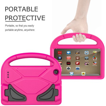 Flip Cover Case Kindle - Portable Kids lovely shockproof drop resistance Highly Durable Case Cover For Amazon Kindle Fire HD 7 2015/2017 Kids Shock Proof Case Perfect Gift