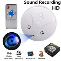 1280x720P HD 32GB Mini DVR Wireless Hidden Camera Smoke Detector Nanny Cam Motion Detection Sound Digital Video Recorder for Home Security Support iOS/Android/PC